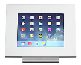 GO-TO™ Tablet-Tischaufsteller - Front- und Rückseite weiß