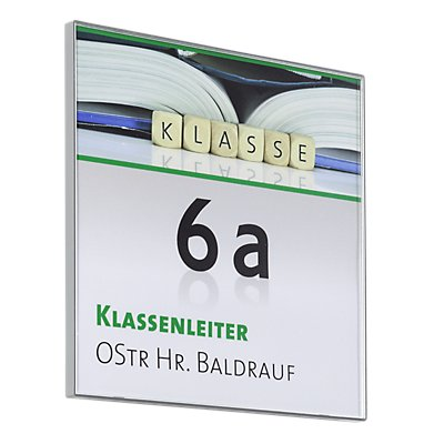 Moedel KAIRO™ Türschild, Breite 149,5 mm - Höhe 149,5 mm, VE 3 Stk, HxB 147,5 x 147,5 mm