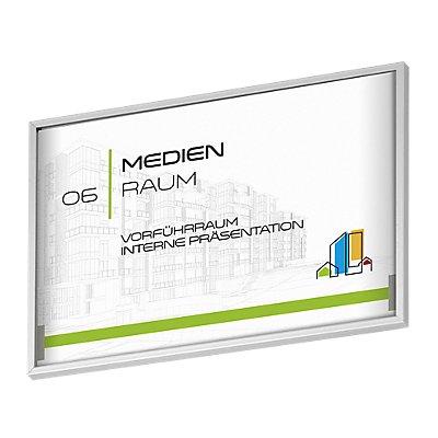 Moedel MADRID Silver Line™ Türschild - HxB 105,5 x 150,5 mm, DIN A6 quer, HxB 99 x 144 mm