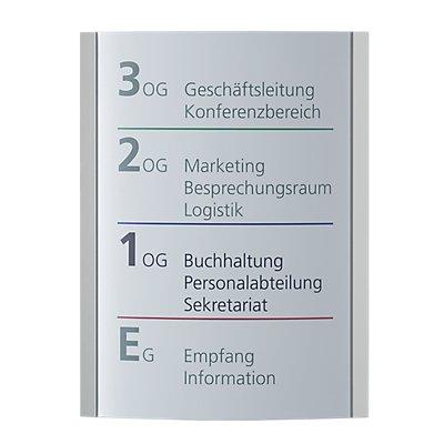 Moedel ORLANDO™ Wegweiser - DIN A4 hoch, HxB 297 x 230 mm, Gewicht 1,58 kg
