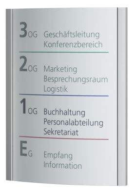 ORLANDO™ Wegweiser - DIN A3 hoch, HxB 420 x 320 mm, Gewicht 1,82 kg