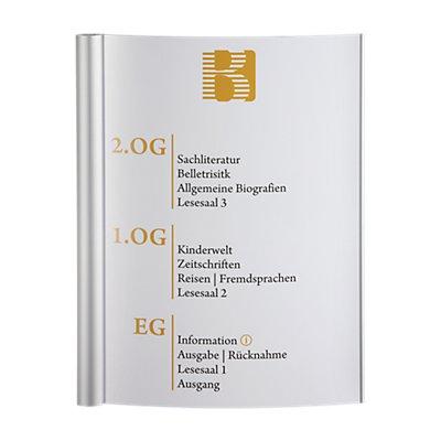 Moedel SYDNEY™ Wegweiser - DIN A3 hoch, HxB 420 x 320 mm, HxB 420 x 287 mm