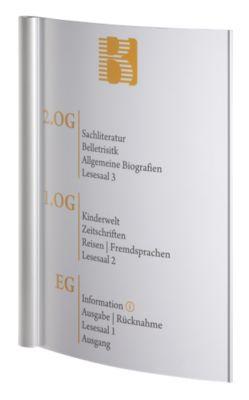 SYDNEY™ Wegweiser - DIN A3 hoch, HxB 420 x 320 mm, HxB 420 x 287 mm