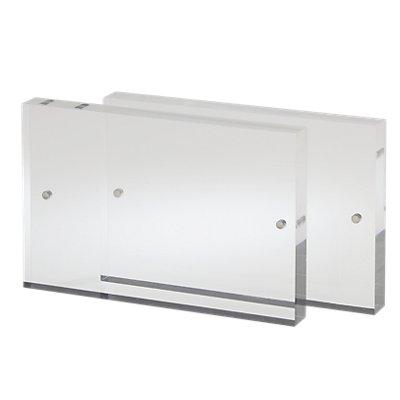 Moedel Tischaufsteller, Acryl - HxBxT 65 x 100 x 10 mm, 2 Scheiben mit 4 Magneten