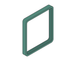 Moedel MAXI™ Zierrahmen, VE 3 Stk - für Türschild, HxB 153 x 153 mm, dunkelgrün