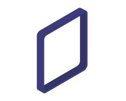 Moedel MAXI™ Zierrahmen, VE 3 Stk - für Türschild, HxB 153 x 153 mm, mittelblau