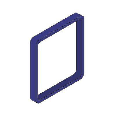Moedel MAXI™ Zierrahmen, VE 3 Stk - für Türschild, HxB 153 x 153 mm