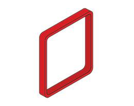 Moedel MAXI™ Zierrahmen, VE 3 Stk - für Türschild, HxB 153 x 153 mm, mittelrot