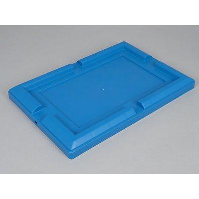 allit Deckel für Transportbehälter, VE 4 Stk - Stülpdeckel, blau