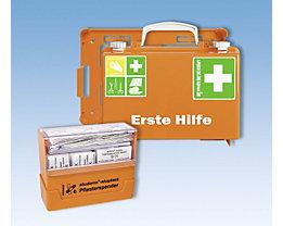Erste-Hilfe-Koffer - mit Pflasterspender und Wandhalterung