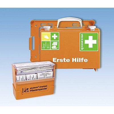SÖHNGEN Erste-Hilfe-Koffer, mit Pflasterspender und Wandhalterung, orange