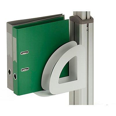 Treston Aktenordnerhalter - für mobile Arbeitsstationen, für 1 Ordner bis 75 mm Breite