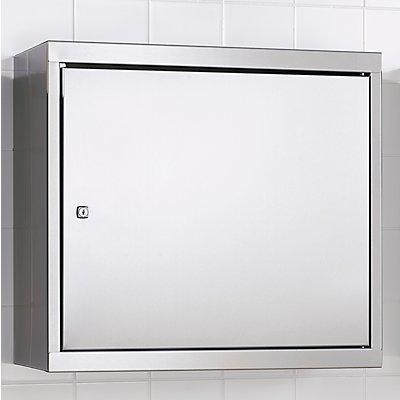 Hängeschrank aus Edelstahl - HxBxT 600 x 650 x 320 mm, 2 Fachböden