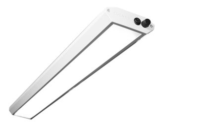 Arbeitsplatzleuchte, LED - pulverbeschichtet, Breite 1230 mm