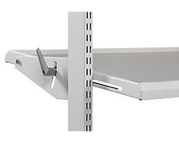 Treston Neigbarer Ablageboden, ESD - lichtgrau, für Tischtiefe 900 mm