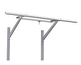 Treston Gestell für Leuchte/Balancer - lichtgrau, für Tischbreite 1800 mm