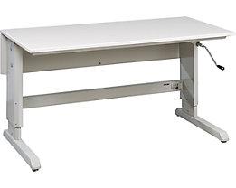 Arbeitstisch Concept - mit Handkurbel, mit ESD-Tischplatte