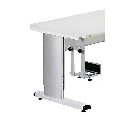 Treston PC-Halter, verstellbar - pulverbeschichtet, lichtgrau