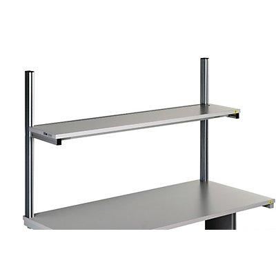 Treston Etagenbord für Arbeitstisch - lichtgrau