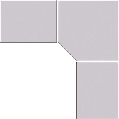 Treston Eckplatte für Arbeitstisch - lichtgrau, BxT 1154 x 1154 mm