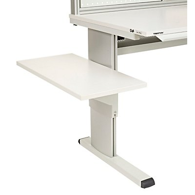 Treston Seitenplatte für Arbeitstisch - lichtgrau, BxT 400 x 800 mm