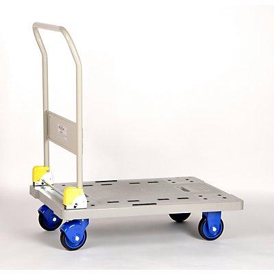 PRESTAR Plattformwagen, Kunststoff - mit klappbarem Schiebebügel