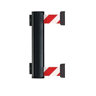 VIAGUIDE Gurtbandkassette DOUBLE aus Aluminium - Bandauszug max. 2300 mm - Gurtfarbe rot / weiß