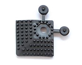 Elément d'angle - L x l 60 x 60 mm, lot de 4 - noir