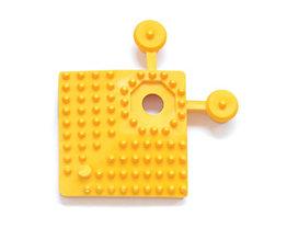 Elément d'angle - L x l 60 x 60 mm, lot de 4 - jaune