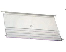 Visière transparente pour bac à bec - pour capacité 80 l, lot de 10 - transparent