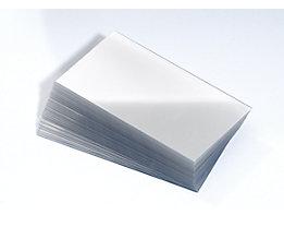 Films protecteurs pour étiquettes - pour bac de stockage - pour l x h 117 x 90 mm, lot de 100