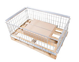 Gitter-Aufsatzrahmen für EUR-Tauschpalette - ohne Klappe - Nutzhöhe 400 mm