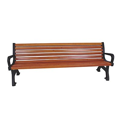 Sitzbank - Länge 1700 mm, Gewicht 56 kg - Holzlasurfarbton Eiche