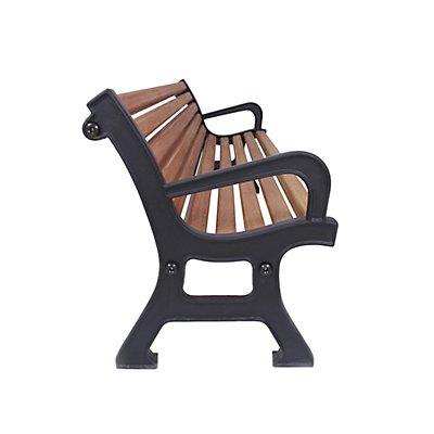 Holz-Sitzbank, massiv - mit Armlehnen - Fichtenholz