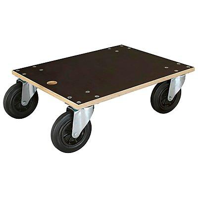 WAGNER Transportroller aus Filmsiebdruckplatte, rechteckig, LxBxH 590 x 490 x135 mm, Tragfähigkeit 400 kg