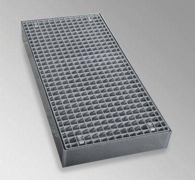 Flachwanne aus verzinktem Stahl - Breite 500 mm