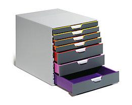Durable Schubladen-Box - HxBxT 292 x 280 x 356 mm, grau, 7 Schubladen