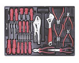 Werkzeugsortiment in Kunststoffeinlage - Schraubendreher-/Zangen-Satz