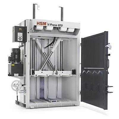 HSM Vertikale Ballenpresse - mit Handrad-Türverschluss, Presskraft 178 kN