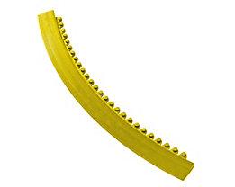 Rampe d'accès pour tapis à angle de 45° - rayon 910 mm - jaune