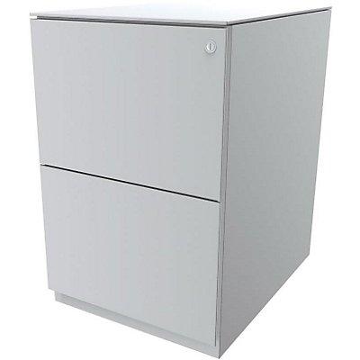 Bisley Rollcontainer Note™ - 7 mm Top, 2 HR-Schubladen, HxBxT 652x420x565 mm