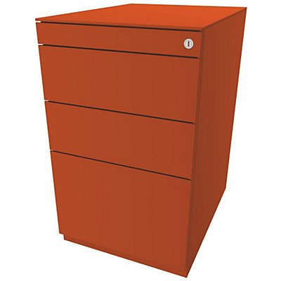 Bisley Standcontainer Note™ - 7 mm Top, 2 Universalschubladen, 1 HR-Schublade, Höhenverstellbar 704-737, BxT 420x565 mm