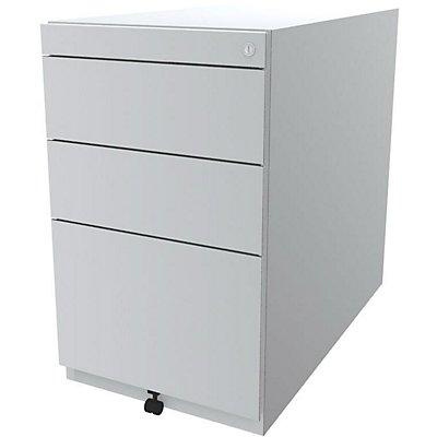 Bisley Standcontainer Note™ - 2 Universalschubladen, 1 HR-Schublade, Höhenverstellbar 698-731, BxT 420x775 mm