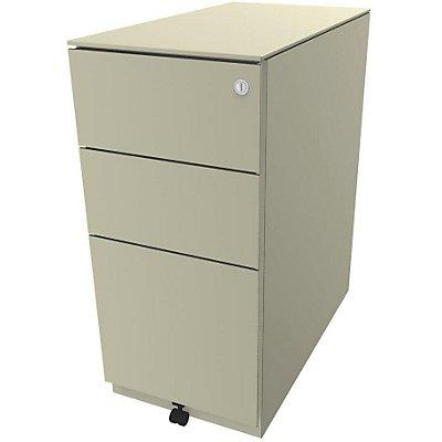 Bisley Rollcontainer Note™ - 7 mm Top, inkl. 5. Rolle, 2 Universalschubladen, 1 HR-Schublade, HxBxT 652x300x565 mm