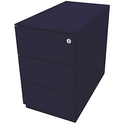 Bisley Rollcontainer Note™ - 7 mm Top, 3 Universalschubladen, HxBxT 502x300x565 mm