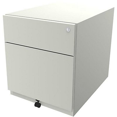 Bisley Rollcontainer Note™ - inkl. 5. Rolle, 1 Universalschublade, 1 HR-Schublade, HxBxT 495x420x565 mm