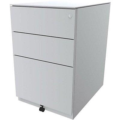 Bisley Rollcontainer Note™ - 7 mm Top, inkl. 5. Rolle, 2 Universalschubladen, 1 HR-Schublade, HxBxT 652x420x565 mm