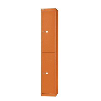 Bisley Garderobenschrank Office - 1 Abteil, 2 Fächer, Tiefe 457 mm