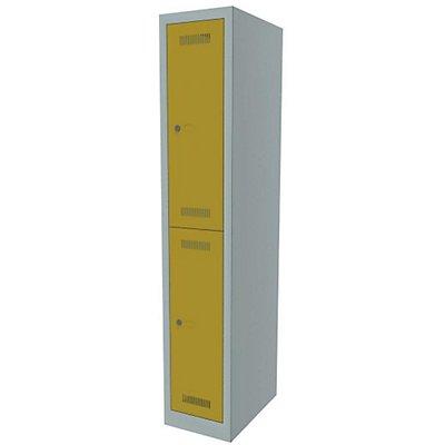 Bisley MonoBloc™ Garderobenschrank - 1 Abteil Breite 300 mm, 2 Fächer