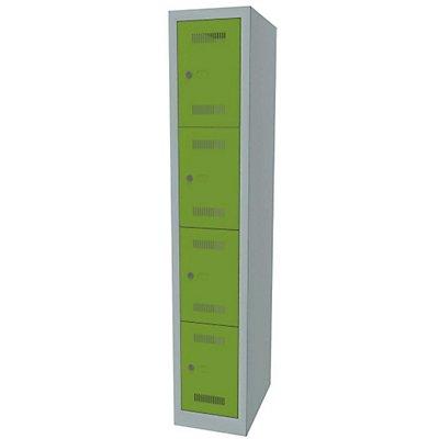 Bisley MonoBloc™ Schließfachschrank - 1 Abteil Breite 300 mm, 4 Fächer